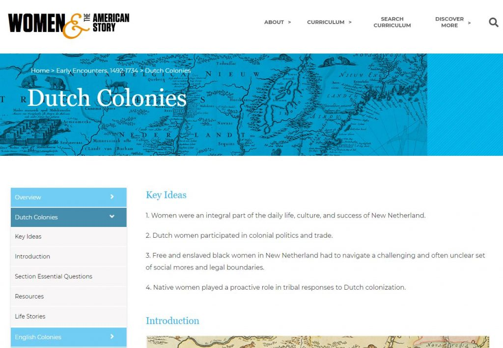 New York Historical Society Launches Online Curriculum Dc Usa - Us-history-curriculum-map