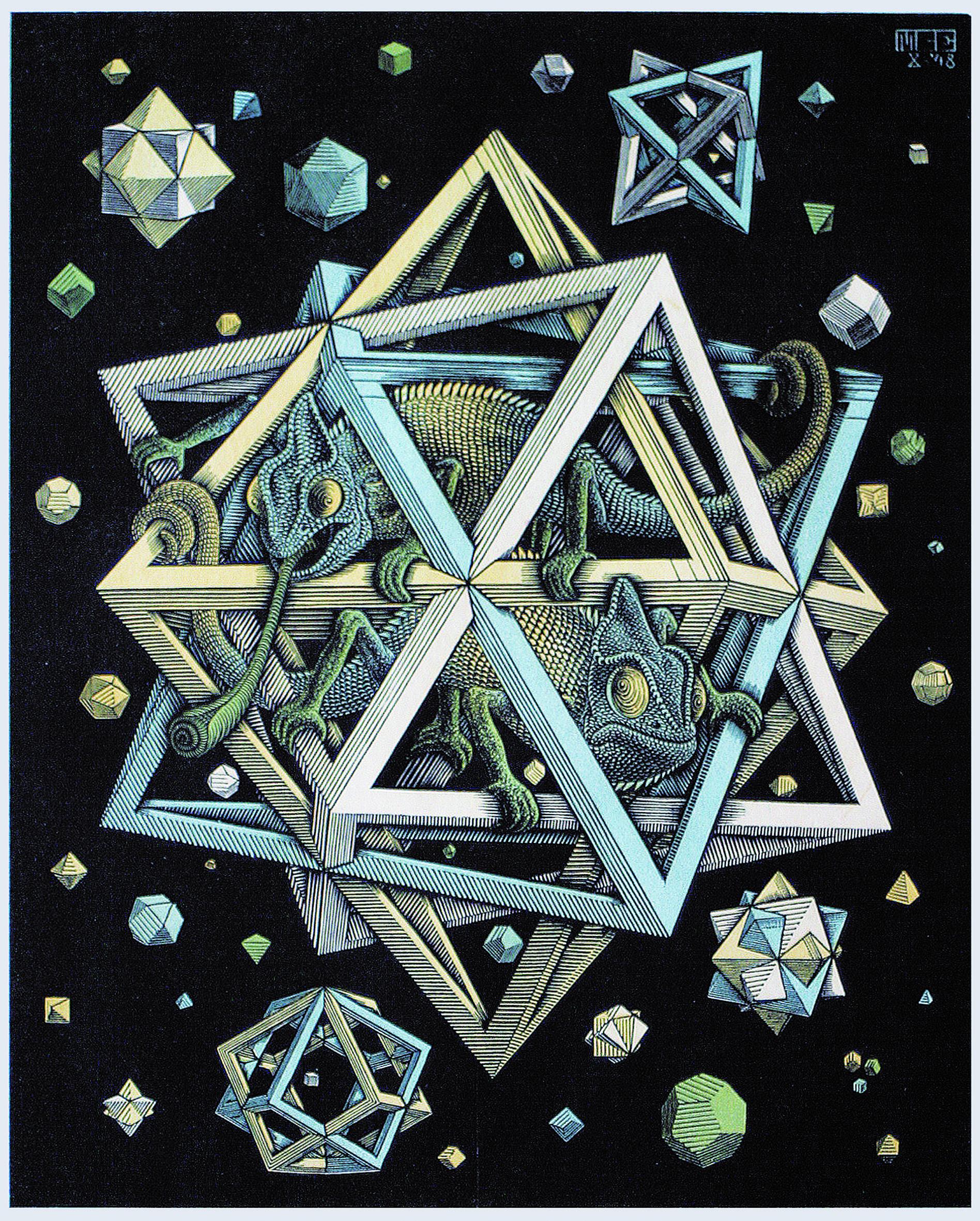 M. C. Escher Stars, 1948
