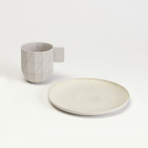 Paper Porcelain Coffee Saucer, Prototype, 2009; Designed by Scholten & Baijings © Smithsonian Institution