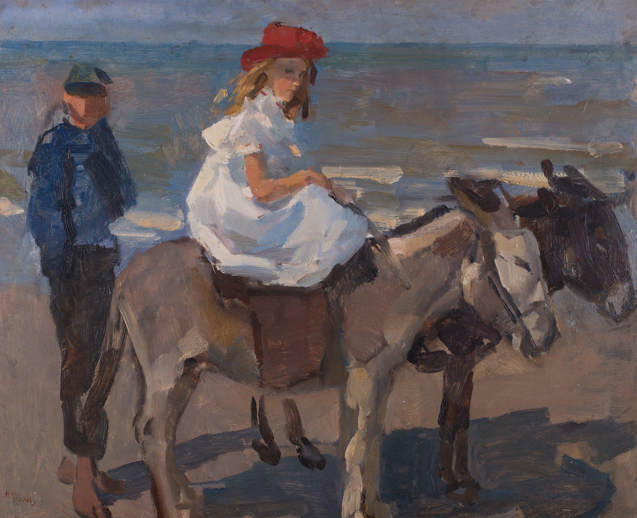 Donkey-Ride on Scheveningen Beach - Part of the Albricht Exhibition