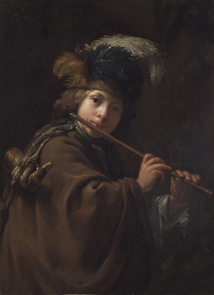 Dirck van Santvoort_A Boy Playing the Flute