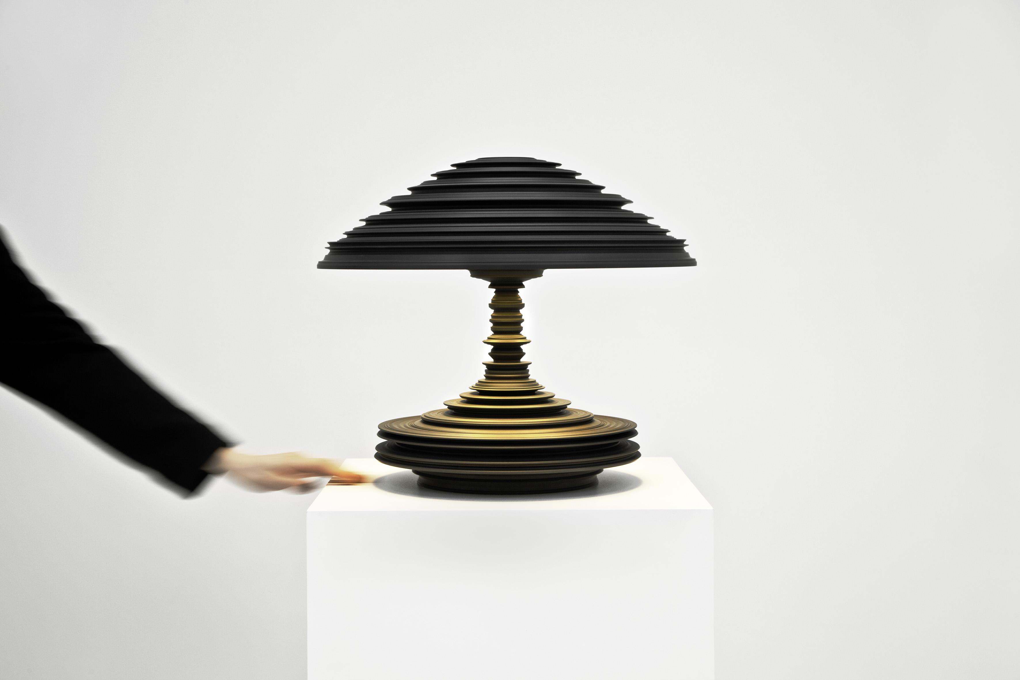 Sebastian Brajkovic - Lathe Lamp Dark Grey © Carpenters Workshop Gallery