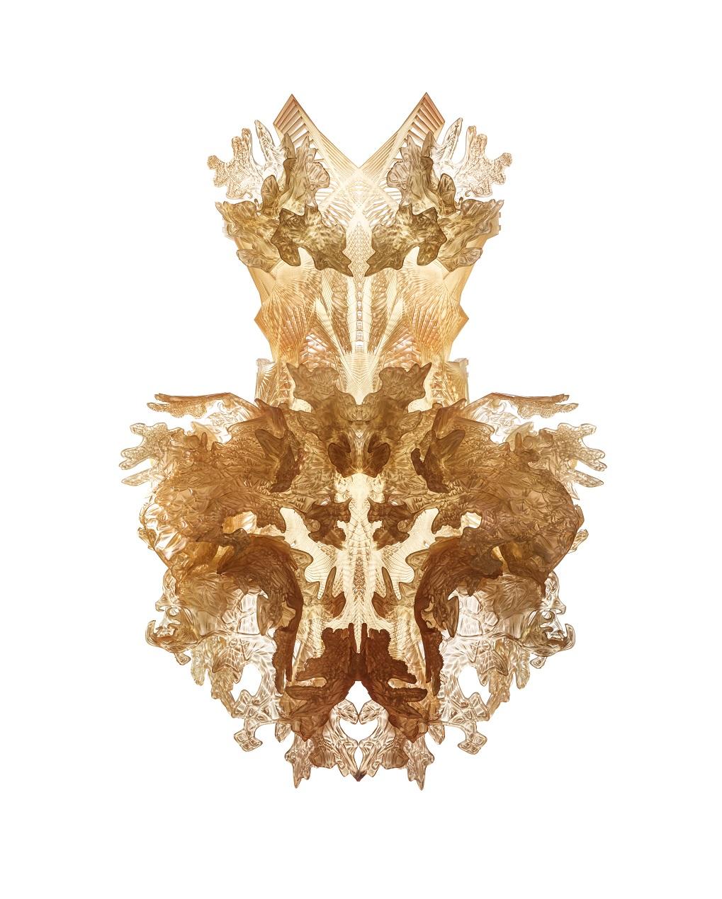 Iris van Herpen (Dutch, born 1984), Hybrid Holism, Dress, July 2012. 3D-printed UV-curable polymer. Supported by the Friends of Iris van Herpen, 2015.170. Photo by Bart Oomes, No 6 Studios. © Iris van Herpen.
