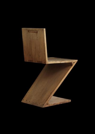 Gerrit Th. Rietveld, Zig-Zag Chair, 1934.