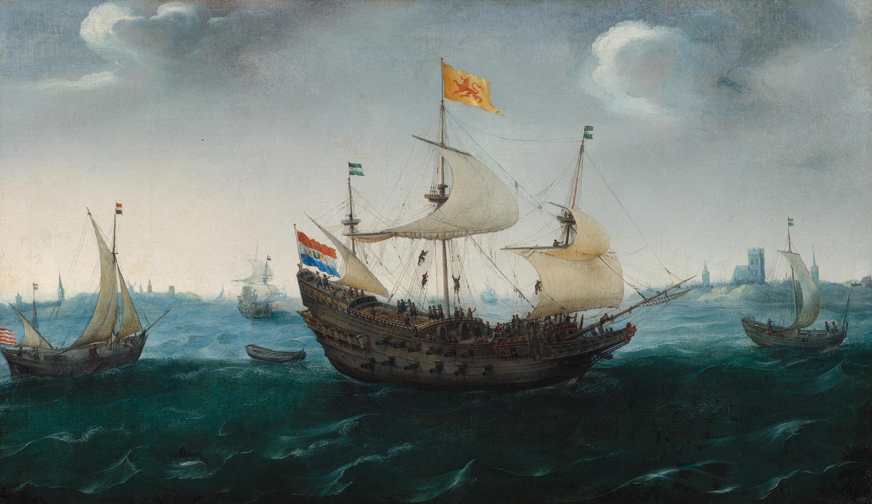 Hendrick Cornelis Vroom, A Fleet at Sea, c. 1614