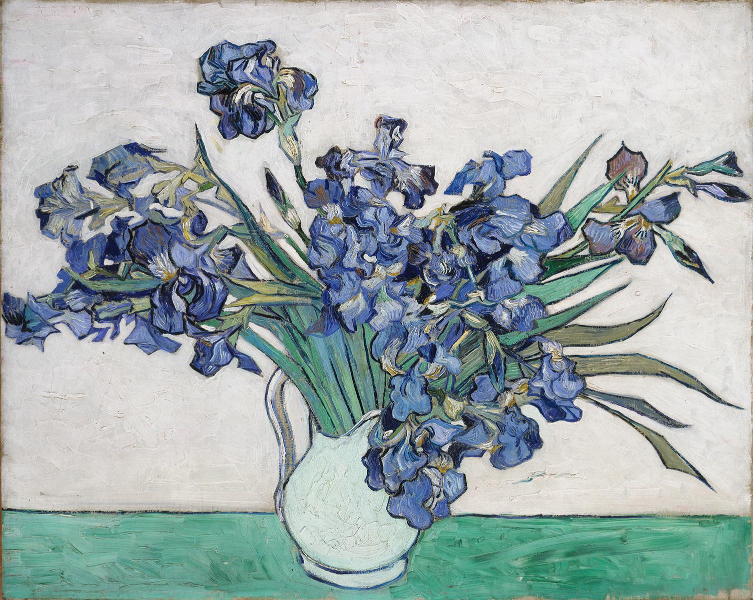 Irises, 1890, Vincent van Gogh