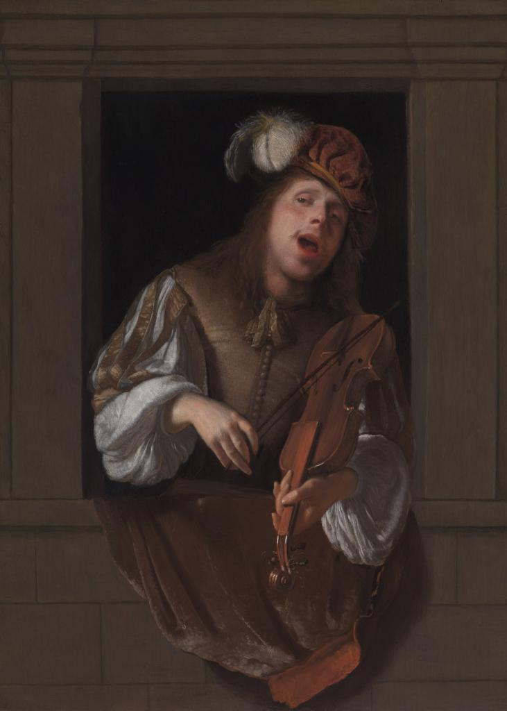Jacob Adriaensz Ochtervelt_A Singing Violinist