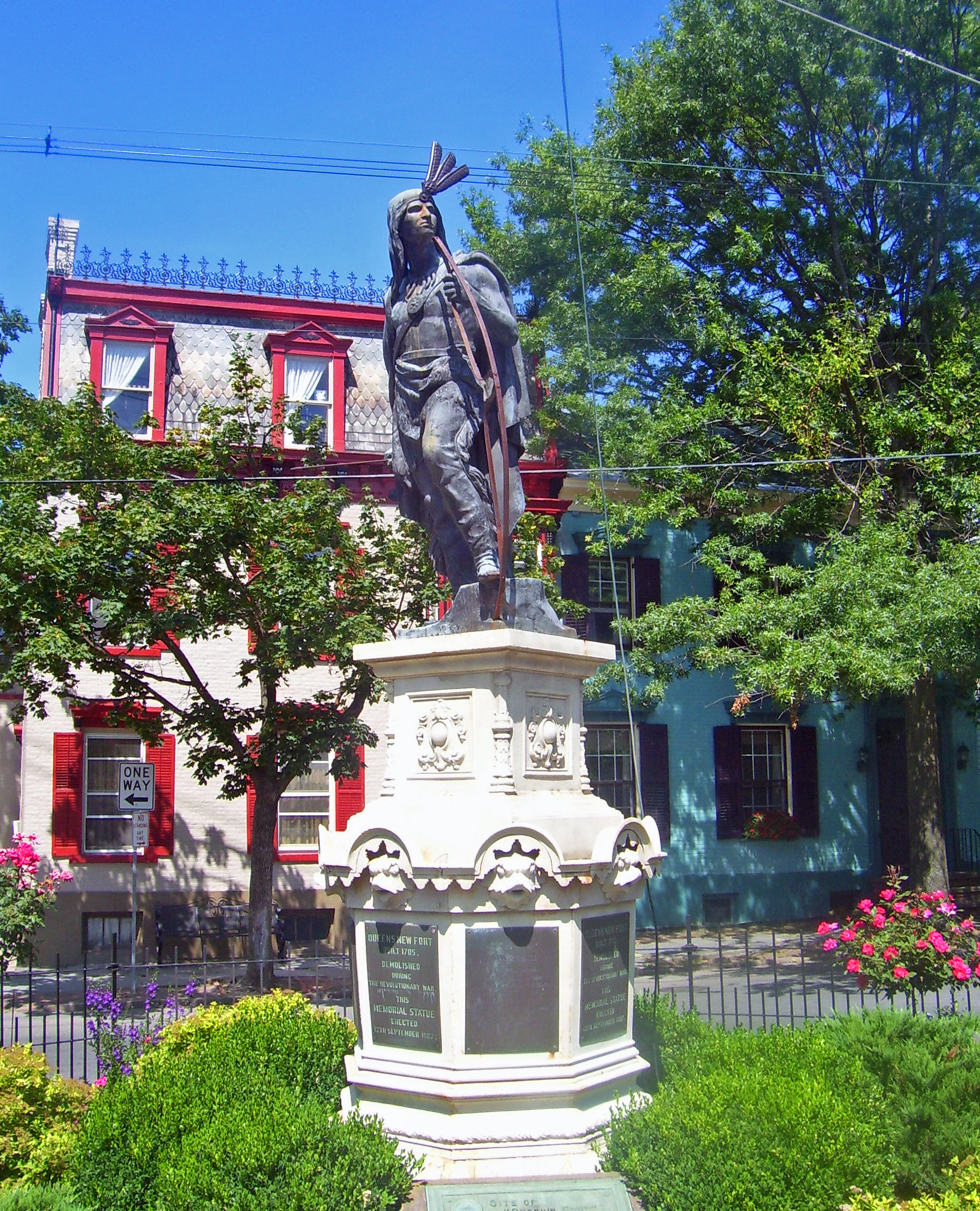 Lawrence the Indian Schenectady statue