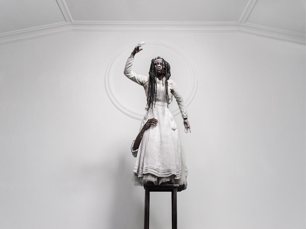 Mohau Modisakeng, Untitled (Zion 4), Diasec, Pigment print on Platine Fibre RAG, 135 x 170 cm, 2018 © Galerie Ron Mandos