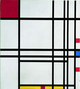 Abstraction, Piet Mondrian 1939-42, Kimbell Art Museum