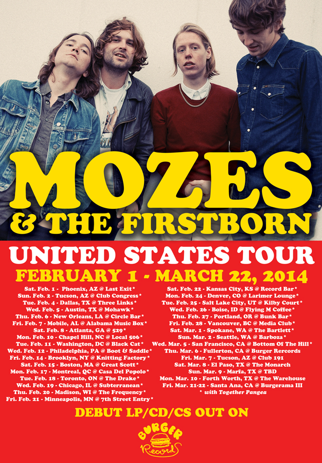 Mozes and the Firstborn US dates