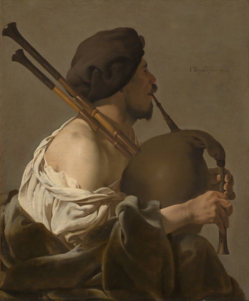 Hendrick ter Brugghen | Dutch, 1588 – 1629 | The Bagpipe Player, 1624 | Oil on canvas | National Gallery of Art | Paul Mellon Fund and Greg and Candy Fazakerley Fund | 2009.24.1