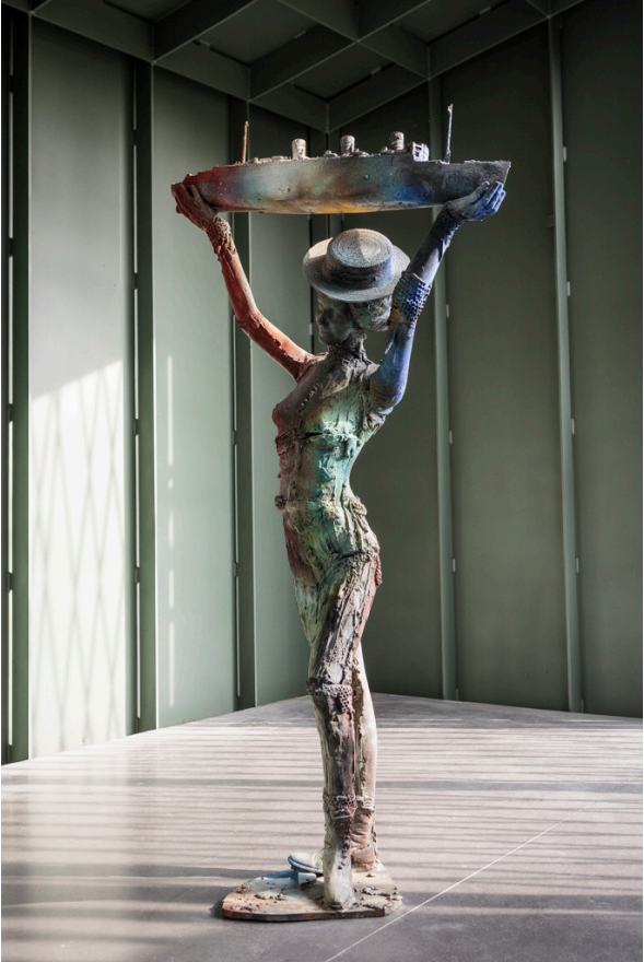 Queen Mary, 2017 by Folkert de Jong - Patinated bronze, edition 2 of 3 - Courtesy of MOCA