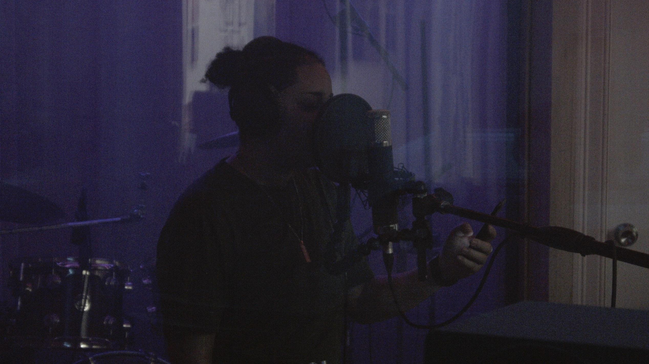 Rae Renegade during a recording session at MJ Studios © Seán Hannan