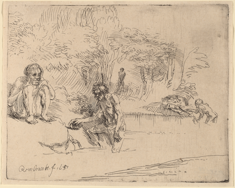 Rembrandt van Rijn, The Bathers, 1651