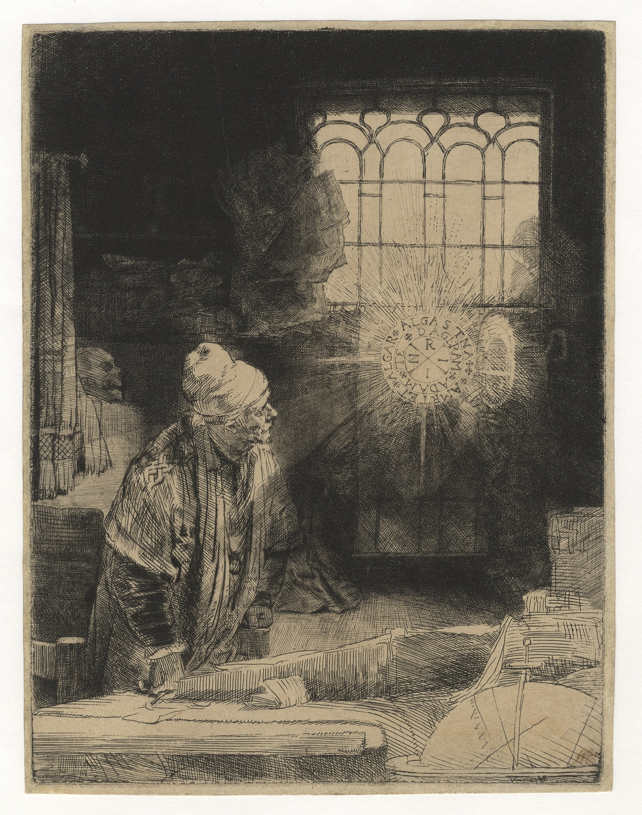 Rembrandt, A Scholar in His Study