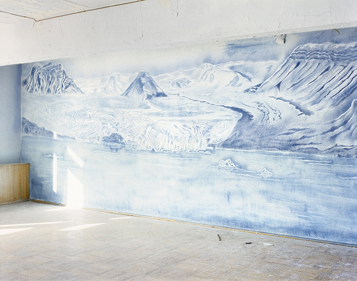 Room with Drawing 1, Pyramiden, Svalbard, 2016 © Jacqueline Hassink