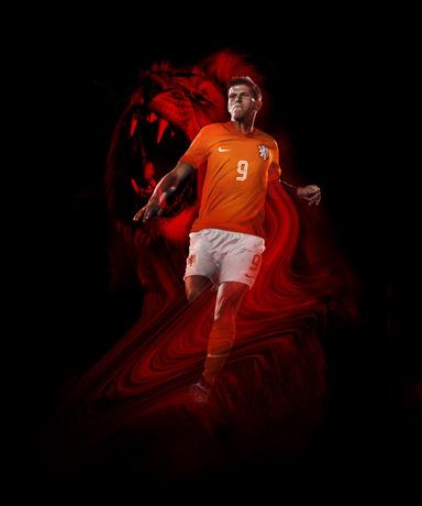 Huntelaar in Nike