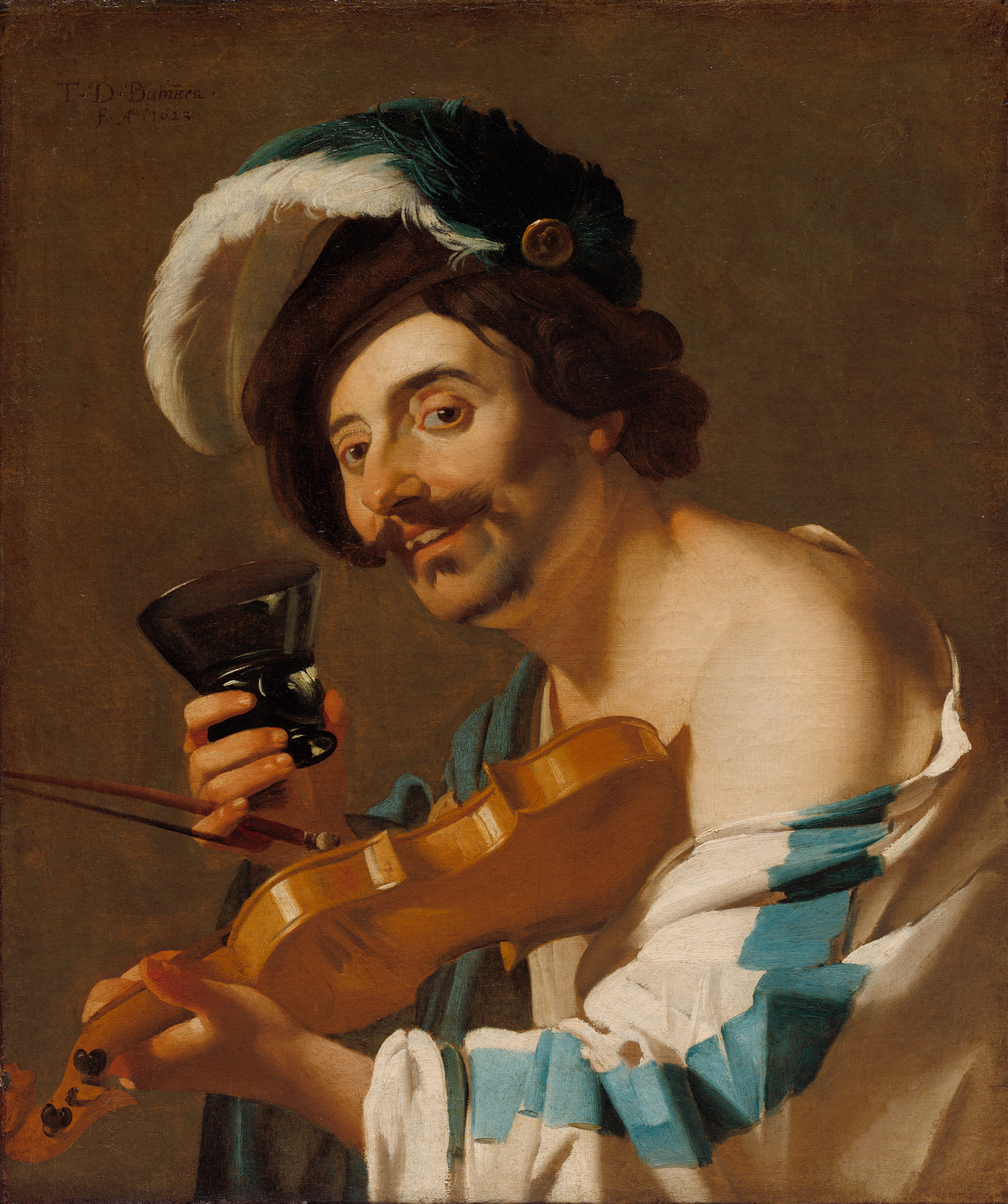 The Violin Player by Dirck van Baburen courtesy of the Cleveland Museum of Art