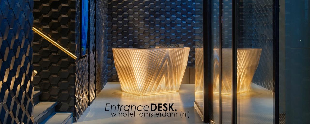 W Entrance Desk - Courtesy of Studio Dirk Vander Kooij