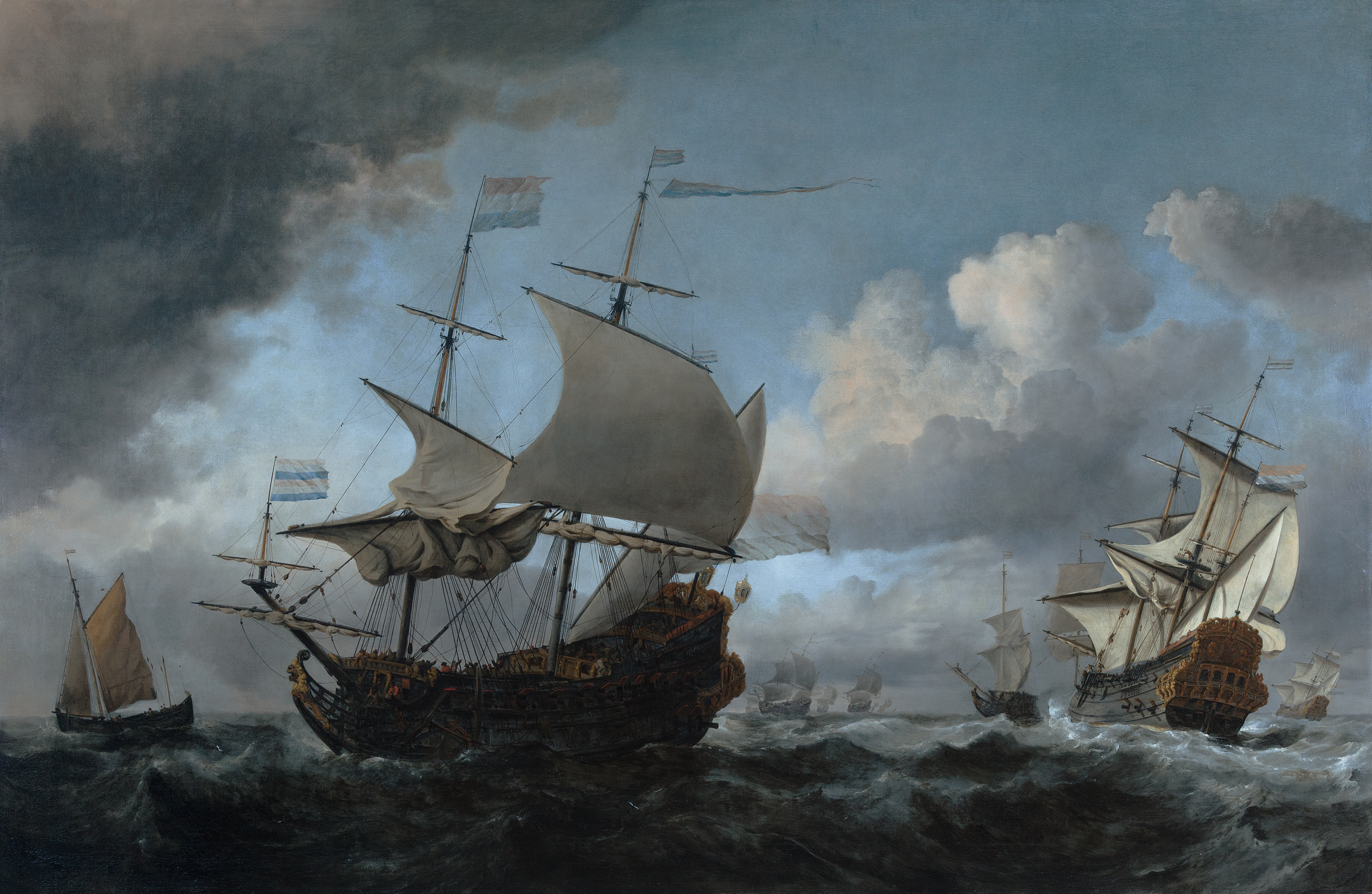 Willem van de Velde the Younger, important painting