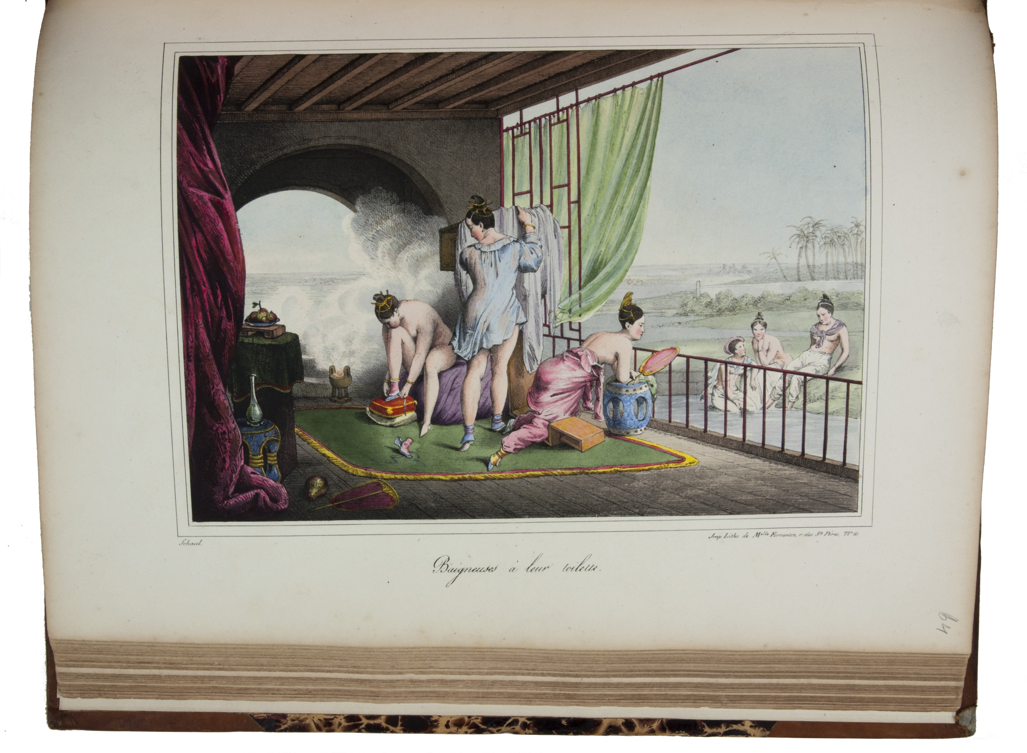 D. Bazin de Malpiere  180 hand-coloured lithographs of China 30 instalments, each consisting of 6 hand-coloured plates, and are seldom found complete. This copy lacks only one plate and description Circa 1825-27 - Courtesy of Antiquariaat Forum BV