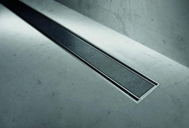 Easy Drain USA, modulo TAF linear shower drain with tile grate