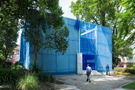 (Blue: Architecture of UN Peacekeeping Missions. Photo: Iwan Baan)