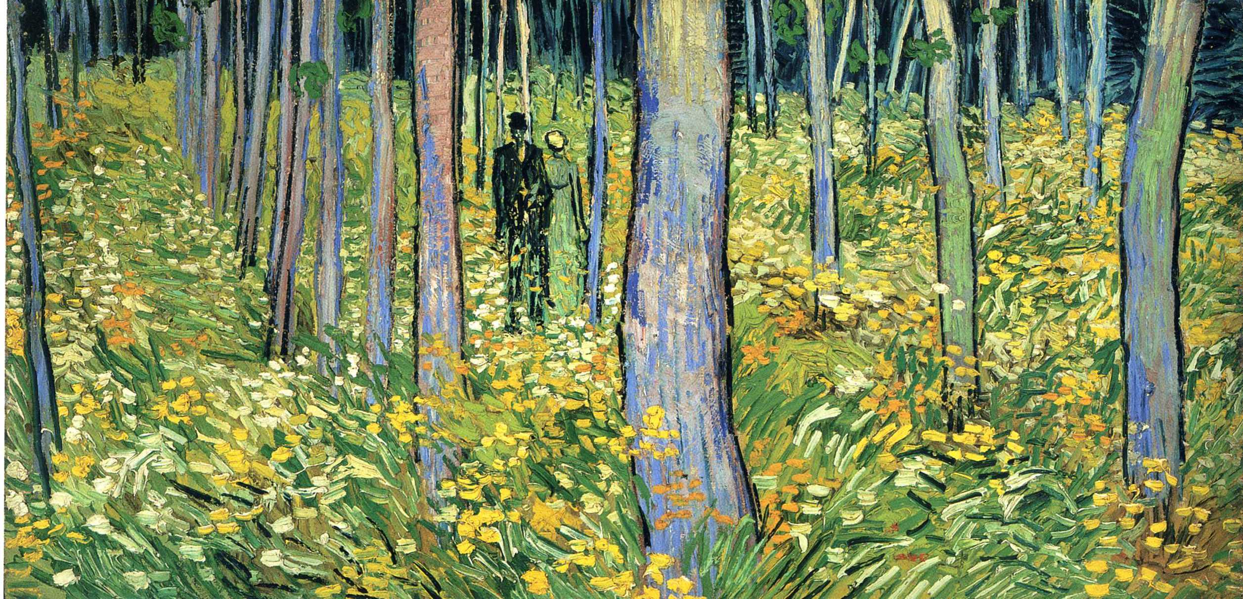 Vincent van Gogh, Undergrowth with Two Figures (1890)