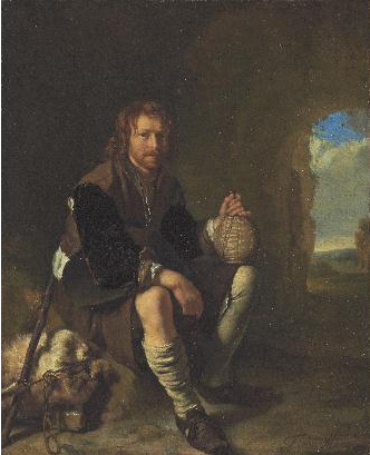 A Traveller at Rest by Van Mieris I