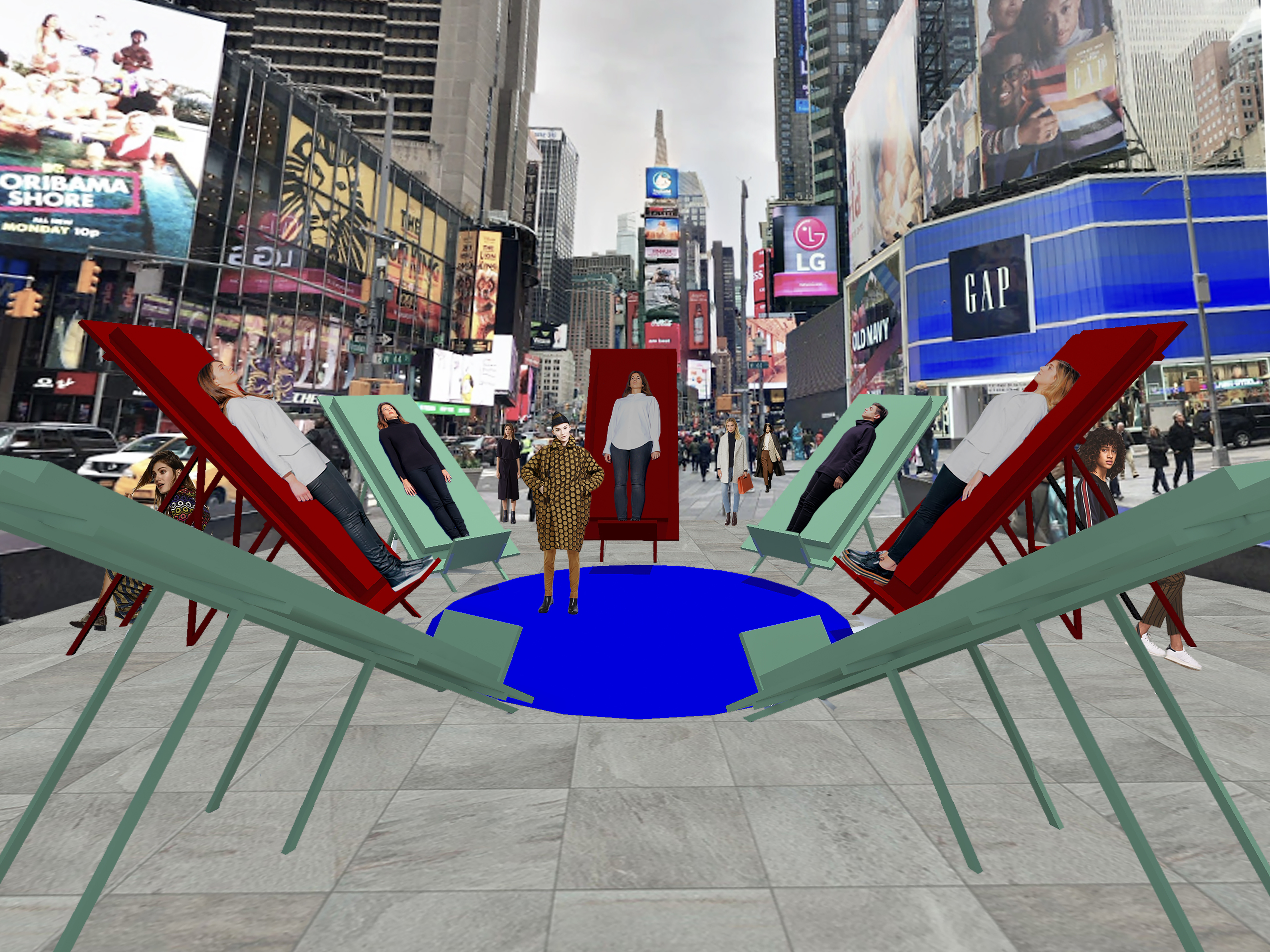 zU-studio architecture New York Times Square Design Pavilion